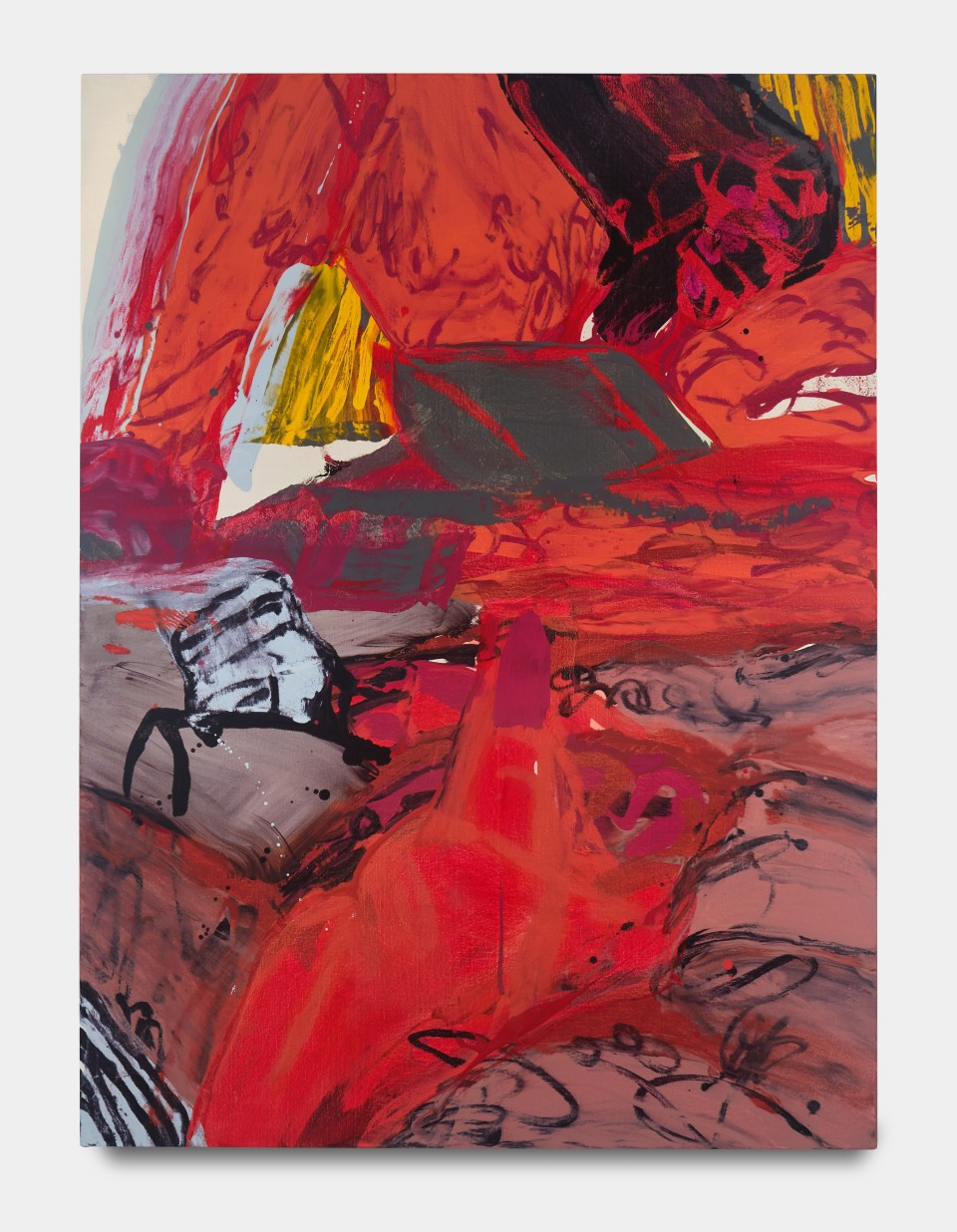 Image: Sarah Faux  Him I don't remember, 2020  signed and dated verso  oil on canvas  62 x 46 inches (157.5 x 116.8 cm)