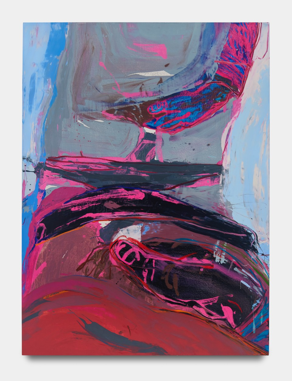 Image: Sarah Faux  Now I am a lake, 2020  signed and dated verso  oil on canvas  62 x 46 inches