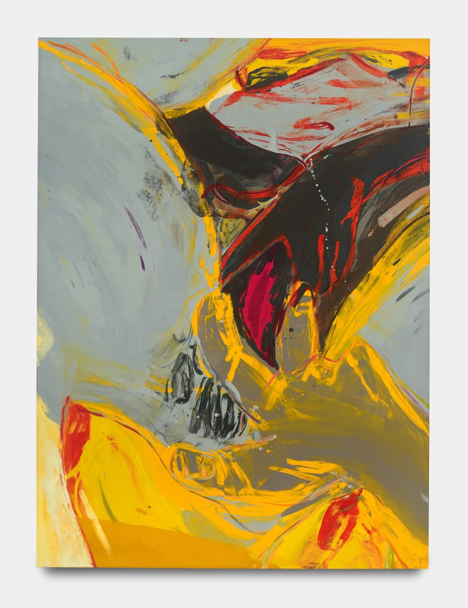 Image: Sarah Faux  Where there is half, there should be double, 2020  signed and dated verso  oil on canvas  62 x 46 inches