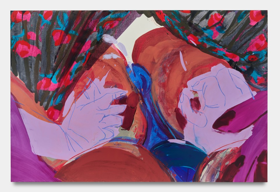 Image: Sarah Faux  Appearances, 2021  signed and dated verso  oil on canvas  59 x 88 inches