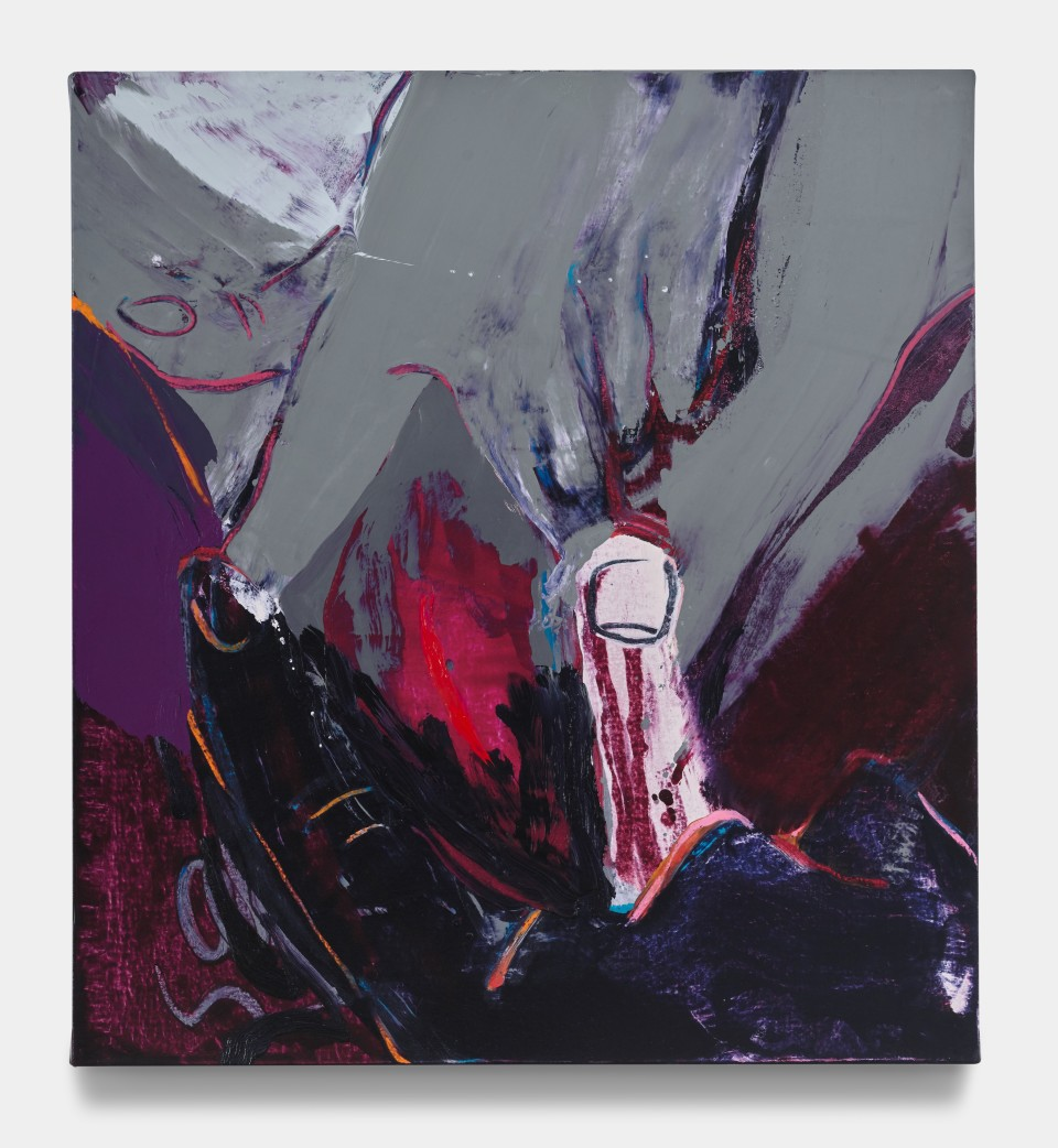 Image: Sarah Faux  Whatever I see I swallow, 2021  signed and dated verso  oil on canvas  22 x 20 inches