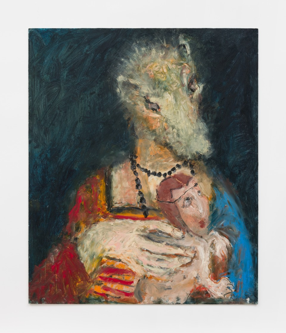 Image: Eva Beresin  Ermine with the body, 2021  signed and dated verso  oil on cardboard  24 x 20 inches (61 x 50.8 cm)  (EBe.21.030.24)