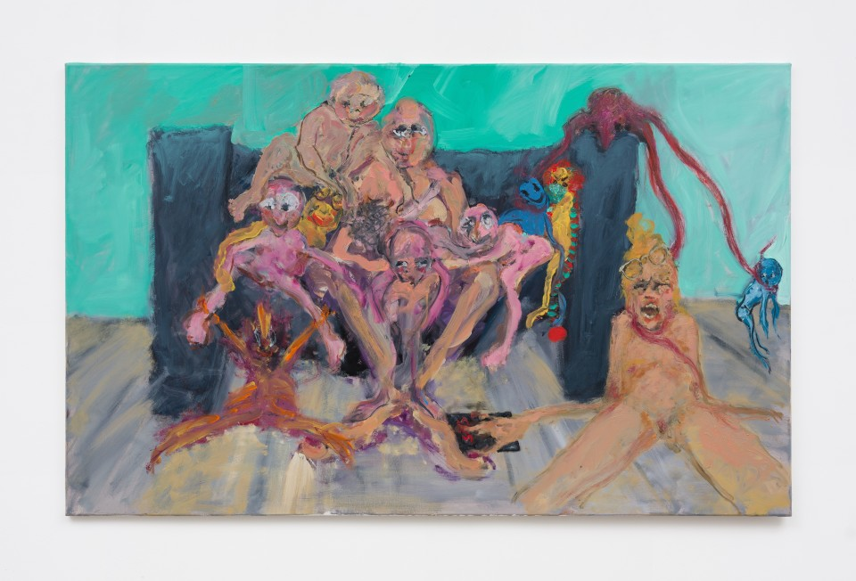 Image: Eva Beresin  Once the genie is summoned, you can't put it back in the bottle, 2021  signed, dated and titled verso  oil on canvas  39 x 63 inches (99.1 x 160 cm)  (EBe.21.008.39)