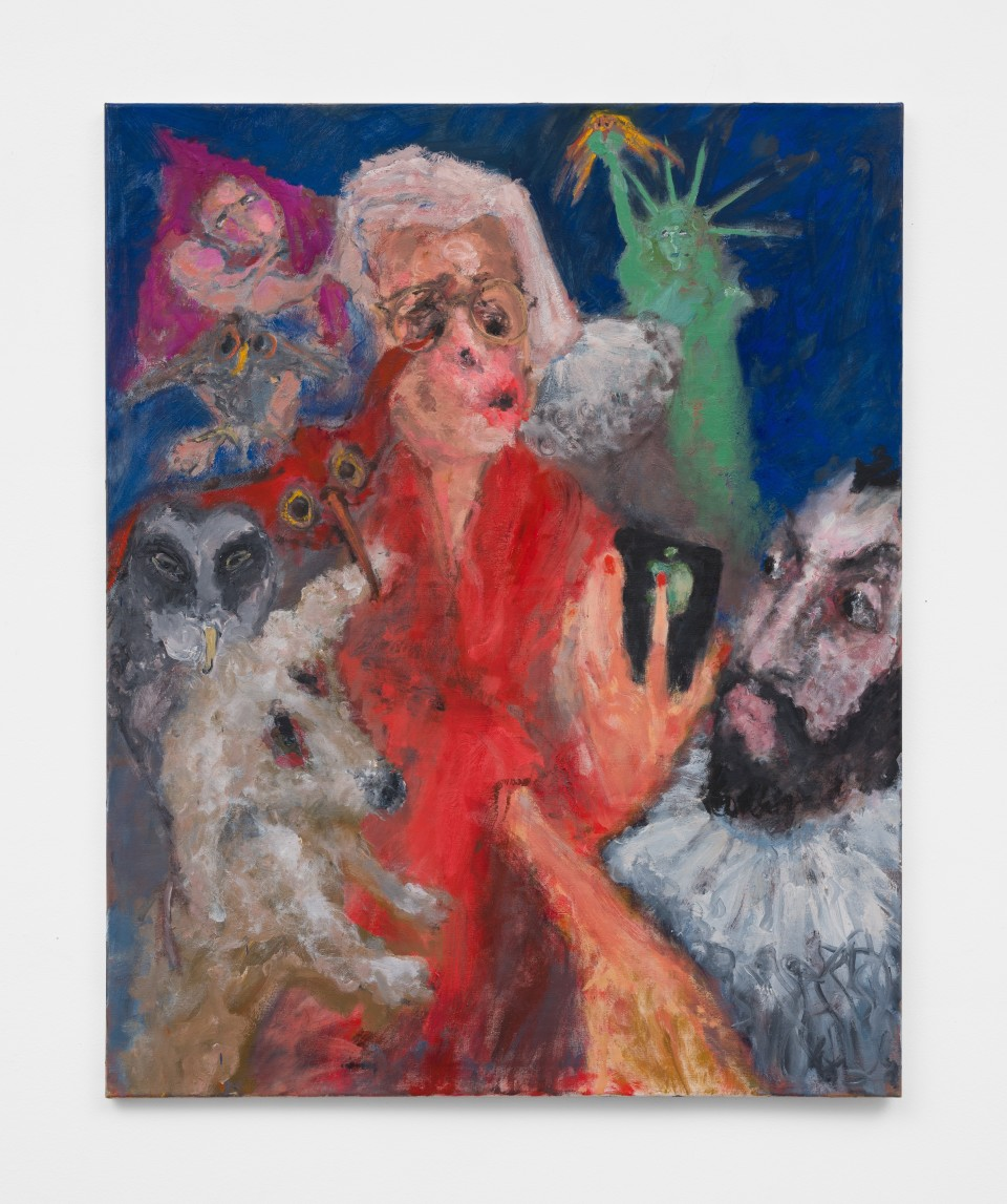 Image: Eva Beresin  Surrounded, 2021  signed, dated and titled verso  oil on canvas  39 1/4 x 31 1/2 inches (99.7 x 80 cm)  (EBe.21.002.39)