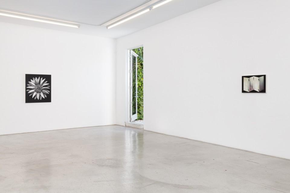 Image: Installation view of Kara Joslyn: Mirror Window Door at M+B, September 18 - October 16, 2021