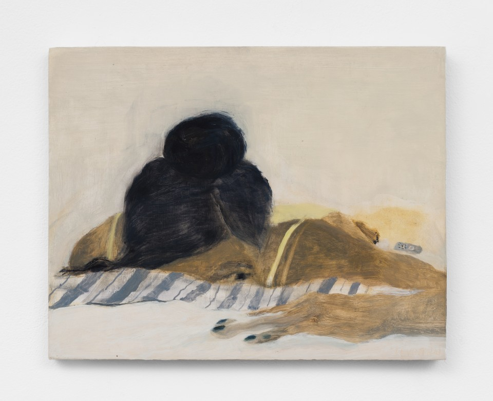Image: Aubrey Levinthal Bed Beach, 2021 signed, titled and dated verso oil on panel 11 x 14 inches (27.9 x 35.6 cm) (ALe.21.004.11)