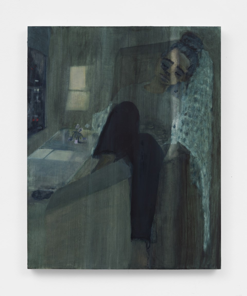 Image: Aubrey Levinthal Hotel Lady, 2021 signed, titled and dated verso oil on panel 30 x 24 inches (76.2 x 61 cm) (ALe.21.014.30)
