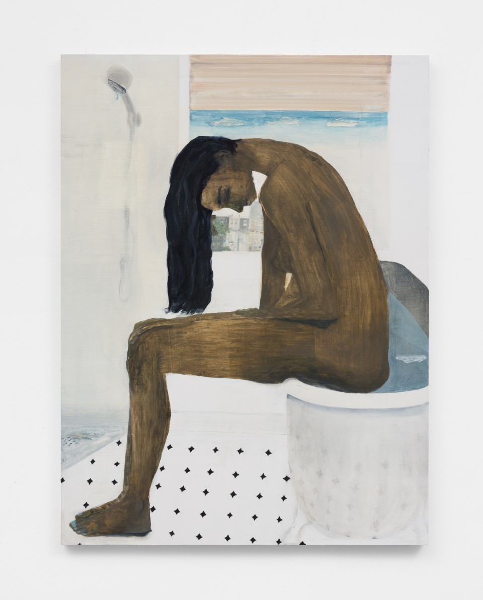 Image: Aubrey Levinthal Morning Woman, 2021 signed, titled and dated verso oil on panel 48 x 36 inches (121.9 x 91.4 cm) (ALe.21.010.48)