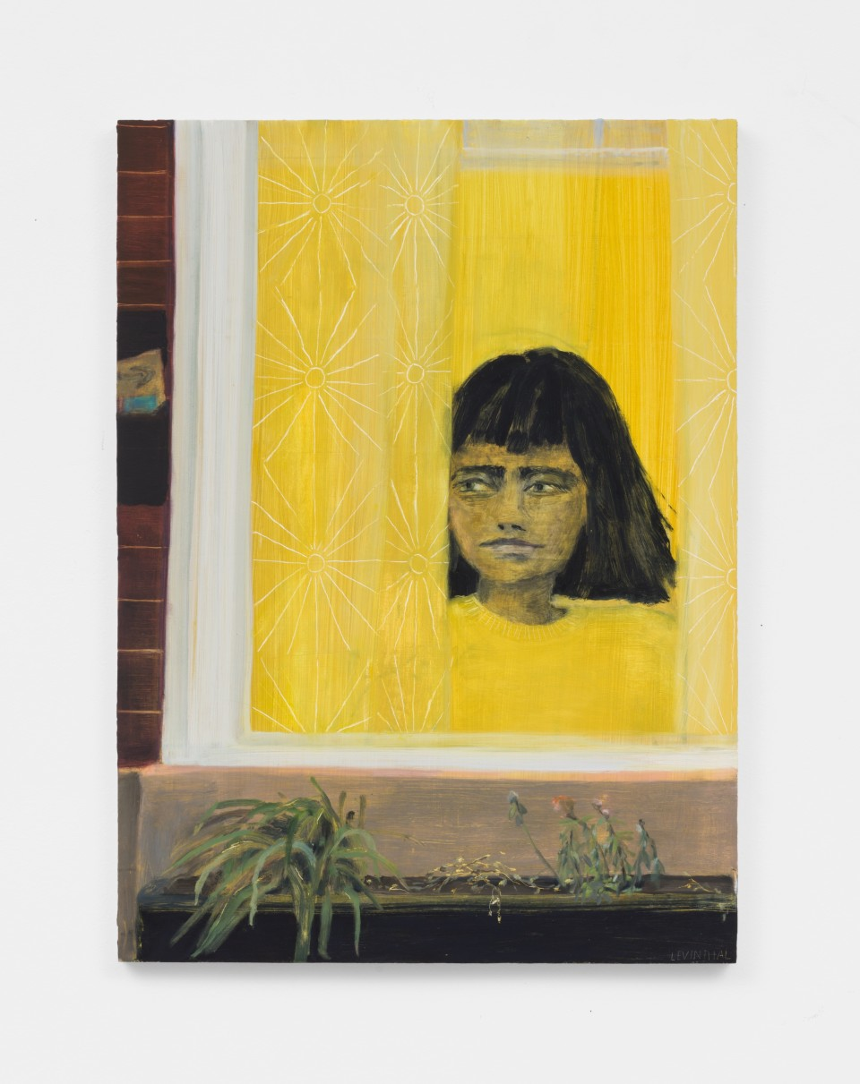 Image: Aubrey Levinthal Neighbor, 2021  signed, titled and dated verso  oil on panel  30 x 22 inches (76.2 x 55.9 cm+  (ALe.21.002.30)
