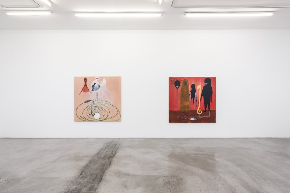 Image: Installation view of Between Rivers, Waterfalls and the Deepest Sea. Open Roads. at M+B, April 24 - May 29