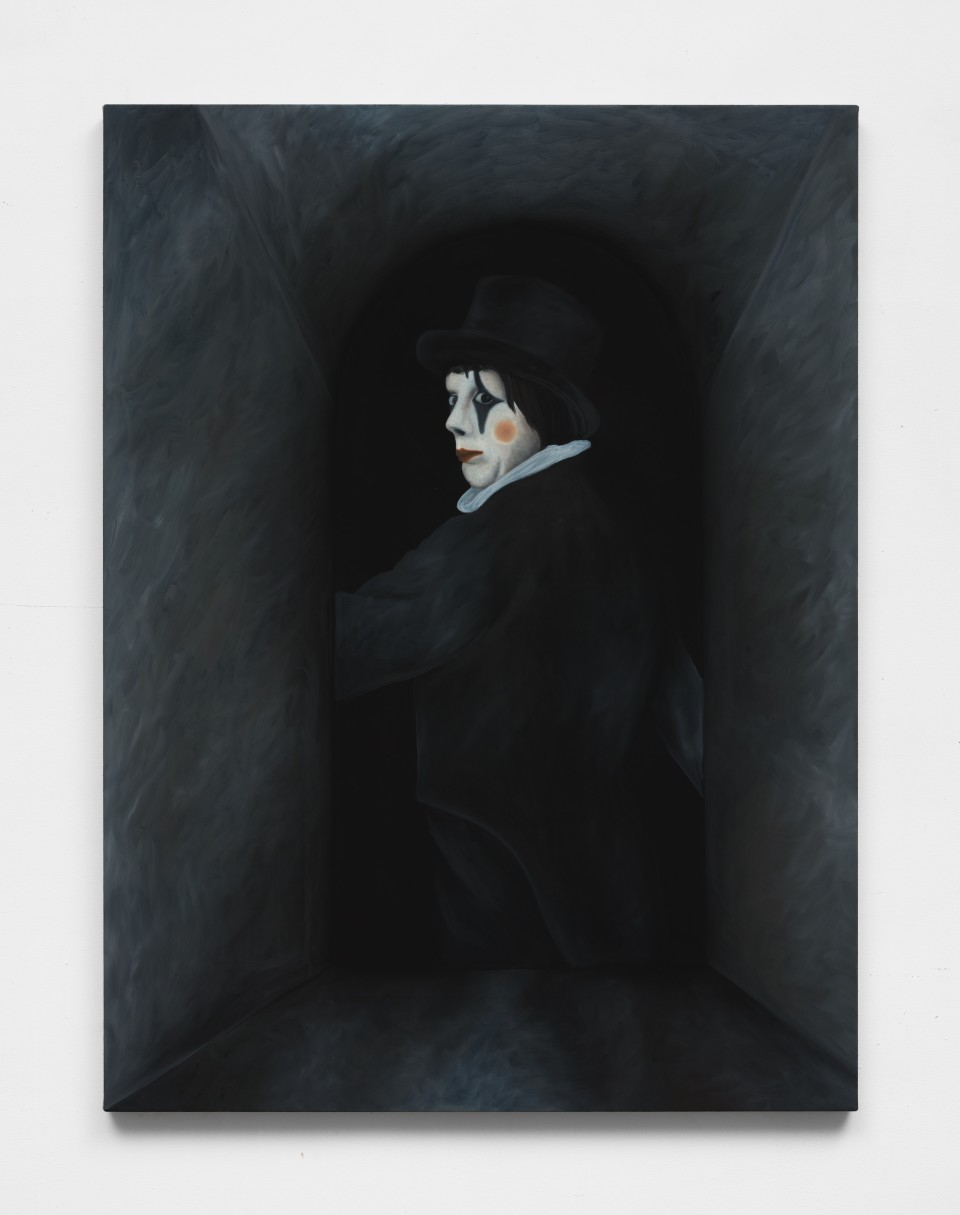 Image: Adam Alessi  Laughter (Corridor), 2021  oil and flashe on canvas  48 x 36 inches (121.9 x 91.4 cm)  (AAl.21.002.48)