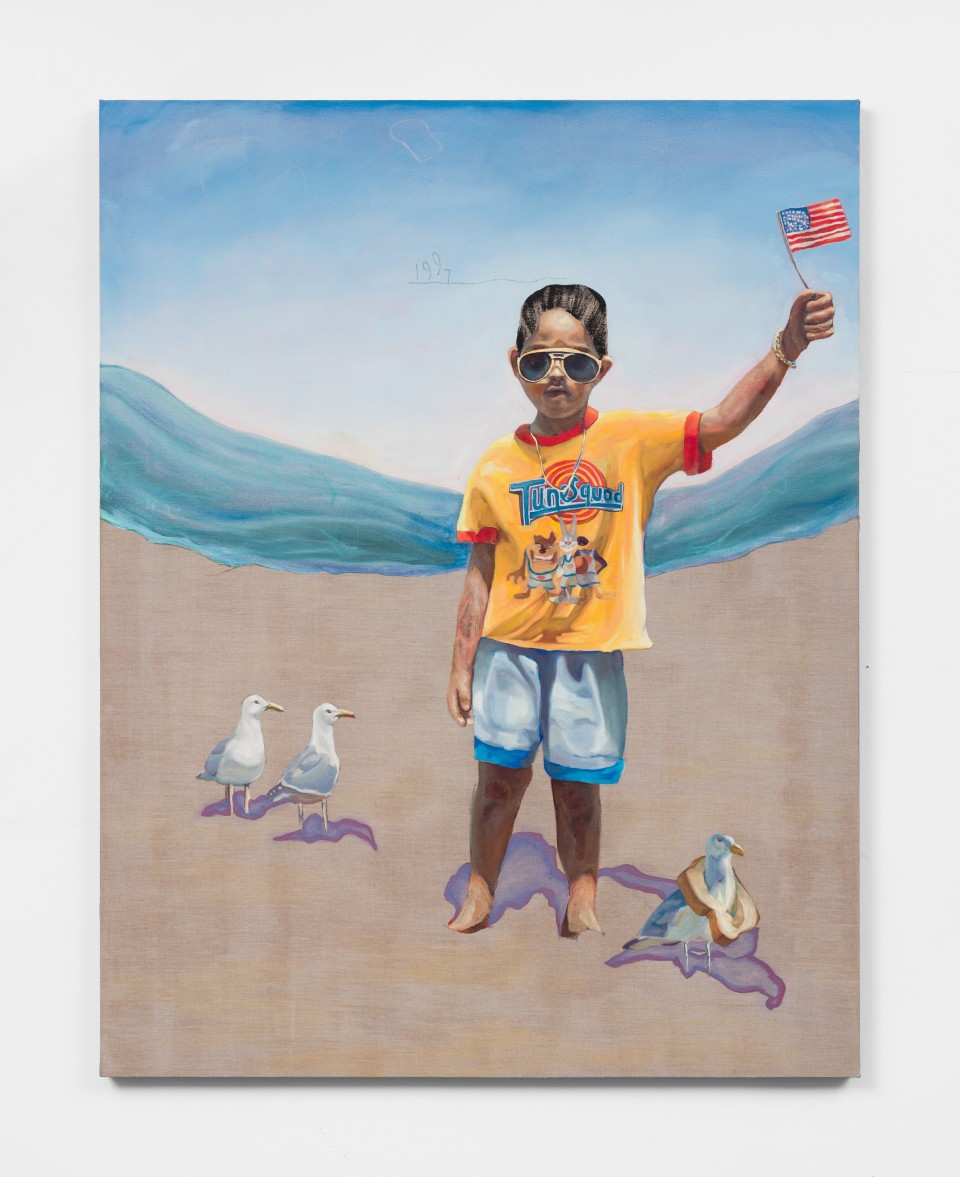 Image: Elmer Guevara  Can I Join?, 2021  mixed media on linen  54 x 42 inches (137.2 x 106.7 cm)  (EGu.21.006.54)