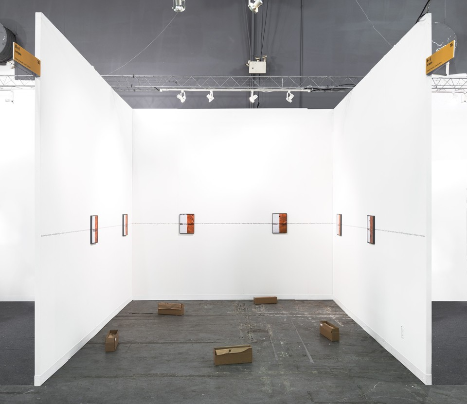 Image: Solo presentation at The Armory Show • Pier 94 Booth 786 • March 5 - 8, 2015