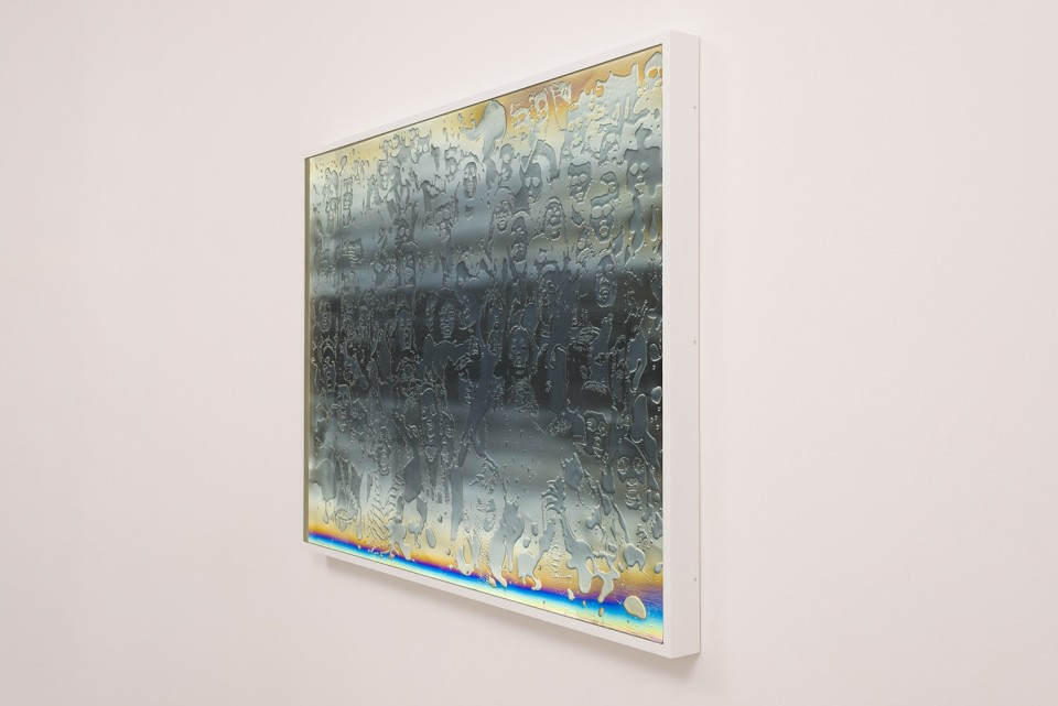 Image: Matthew Brandt LCD 70.2, 2015 plastic resin on plastic with polarization lenses in LED lightbox frame 42-3/4 x 56-1/4 x 2-3/4 inches unique  (MBr.18.0010.42)