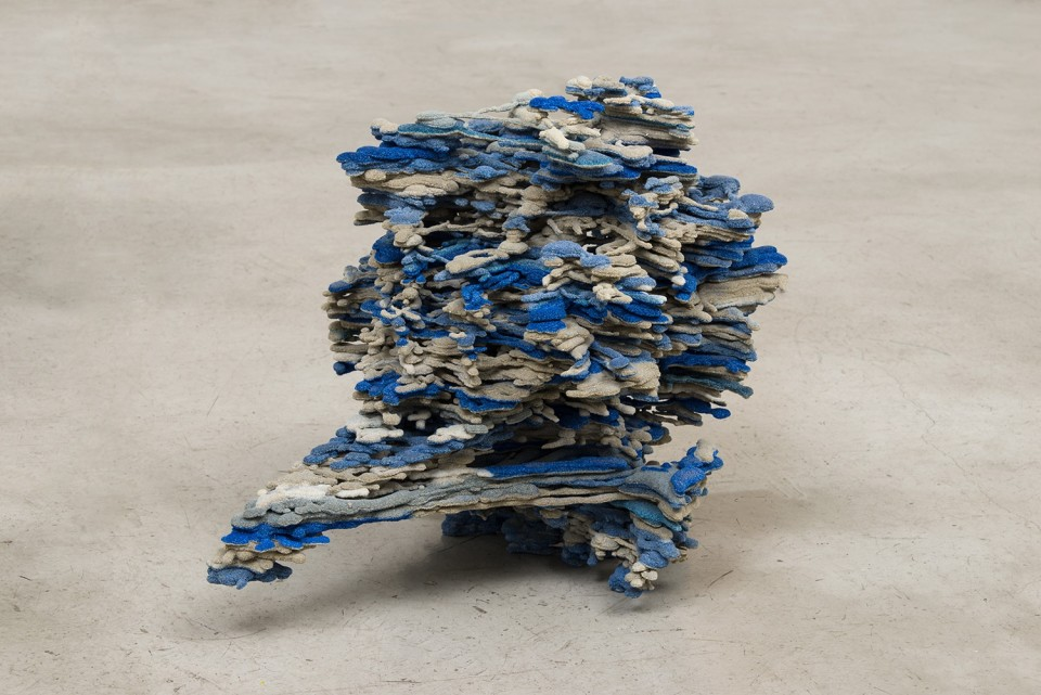 Image: Dwyer Kilcollin  Bouquet, Edda (younger), 2015  resin, feldspar, calcium carbonate, quartz, silica, glass, lazurite  24 x 18 x 19 inches