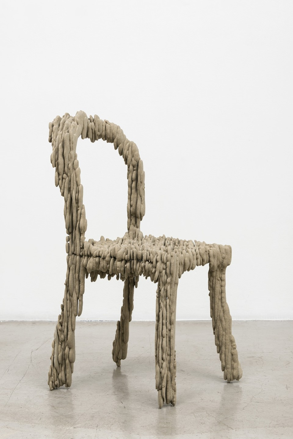 Image: Dwyer Kilcollin  Emergent Object: Chair VIII, 2015  resin and stone with steel armature  34 x 17 x 20 inches