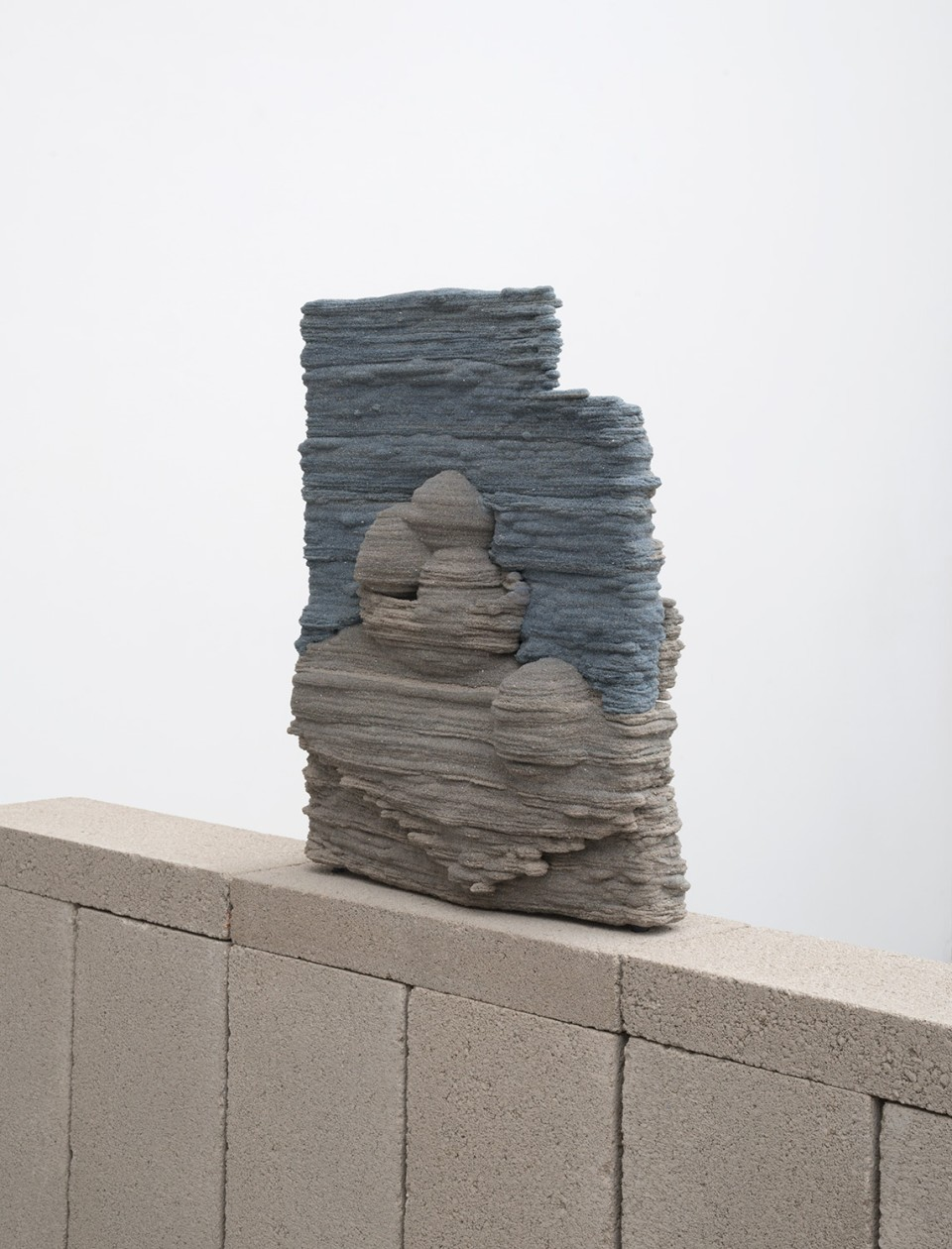 Image: Dwyer Kilcollin  Tableau (a line, and blue), 2016  resin, stone and stainless steel inlets  17 x 14 x 5 inches (approx)