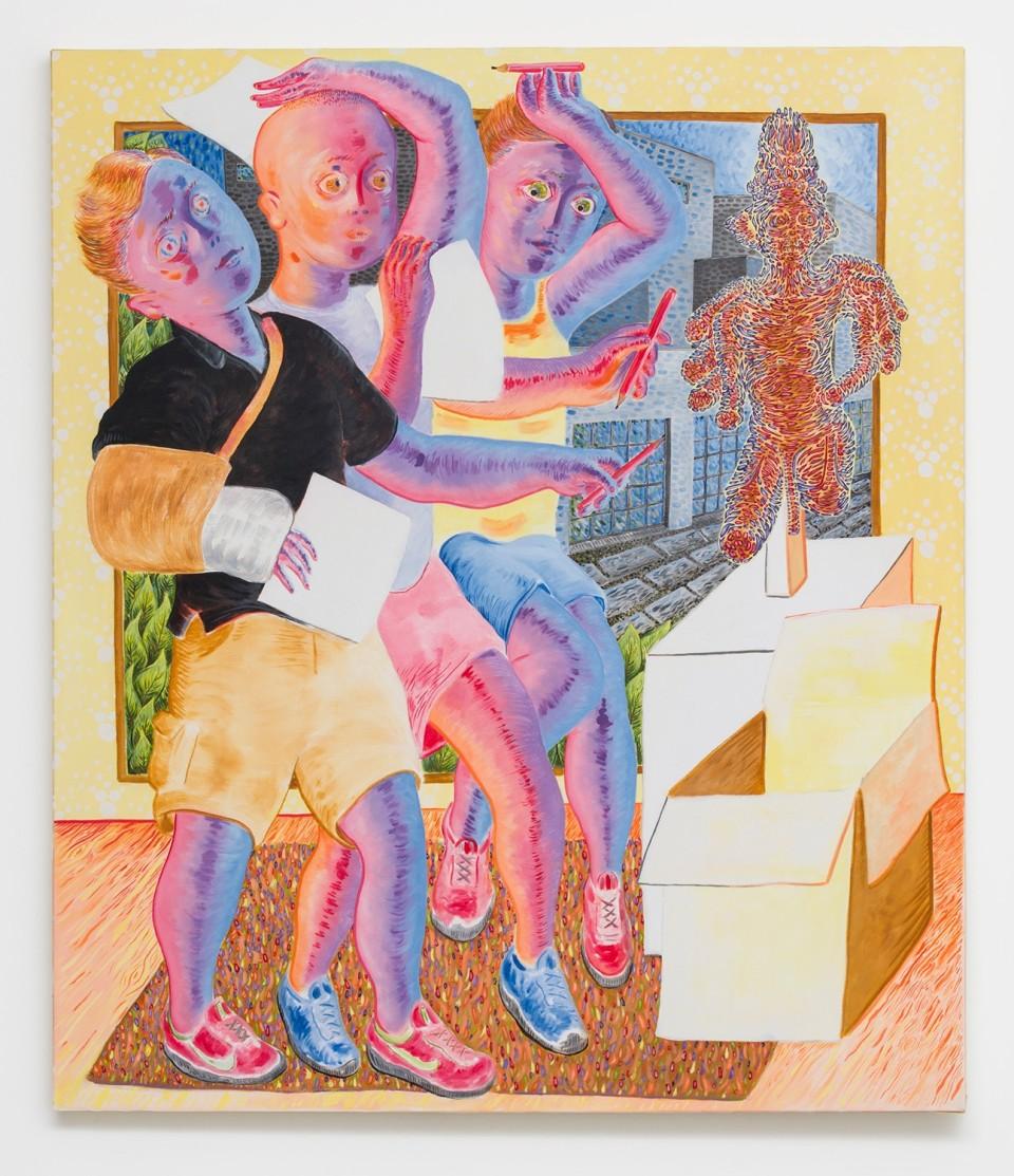 Image: Josh Mannis  Non Serviam, 2016  oil on canvas  56 x 48 x 1-1/2 inches