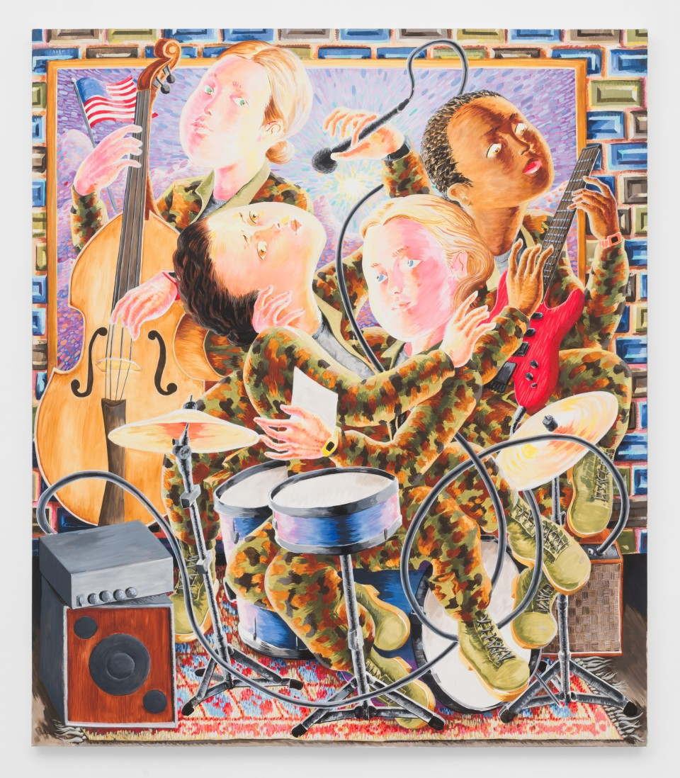 Image: Josh Mannis, Love, Devotion, Surrender, 2018, oil on canvas, 56 x 48 inches