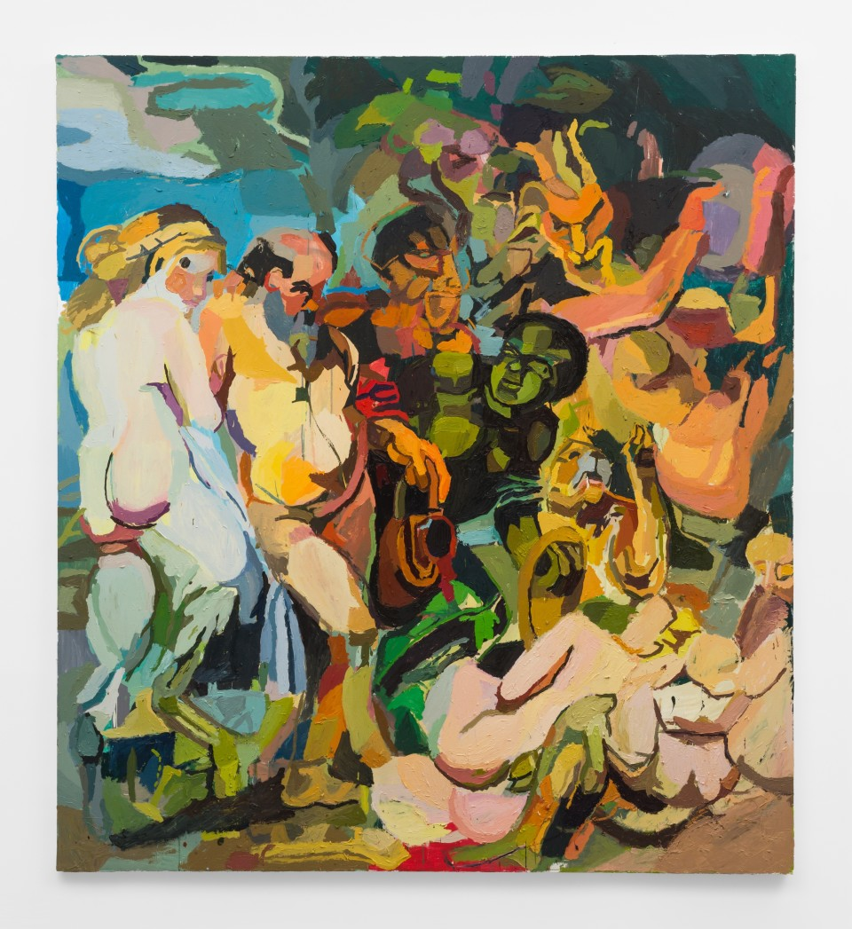 Image: Clintel Steed  Bacchanalia, 2019  signed, titled and dated verso  oil and acrylic on canvas  80 x 72 inches (203.2 x 182.9 cm)