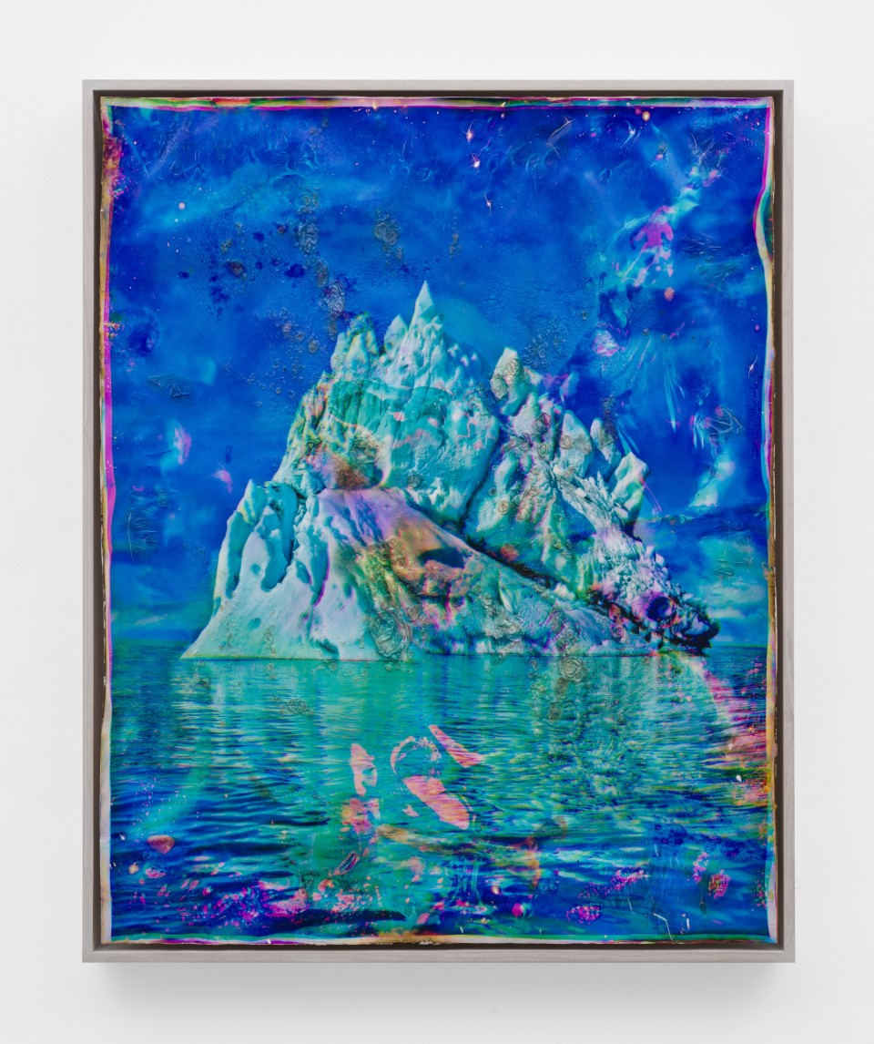 Image: Matthew Brandt  Vatnajökull CMY10, 2018-2020  signed, titled and dated verso  heated chromogenic print, with acrylic varnish and Aqua-Resin support  41 1/2 x 33 3/8 inches (105.4 x 84.8 cm)