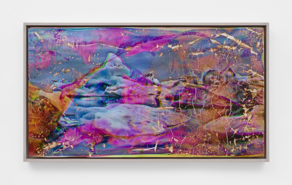 Image: Matthew Brandt  Vatnajökull MCY16, 2018-2020  signed, titled and dated verso  heated chromogenic print, with acrylic varnish and Aqua-Resin support  25 1/2 x 45 1/8 inches (64.8 x 114.6 cm)