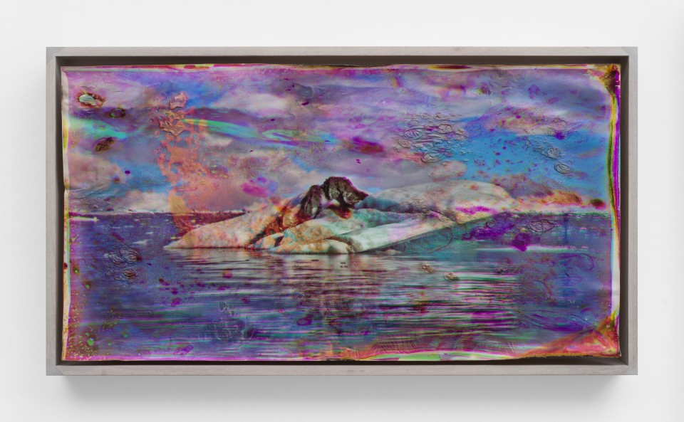 Image: Matthew Brandt  Vatnajökull MYC36, 2018-2020  signed, titled and dated verso  heated chromogenic print, with acrylic varnish and Aqua-Resin support  17 1/2 x 31 1/2 inches (44.5 x 80 cm)