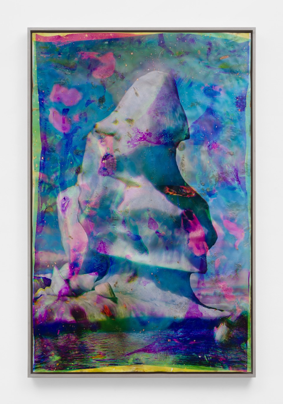 Image: Matthew Brandt  Vatnajökull MYC8, 2018-2020  signed, titled and dated verso  heated chromogenic print, with acrylic varnish and Aqua-Resin support  73 7/8 x 48 1/2 inches (187.6 x 123.2 cm)