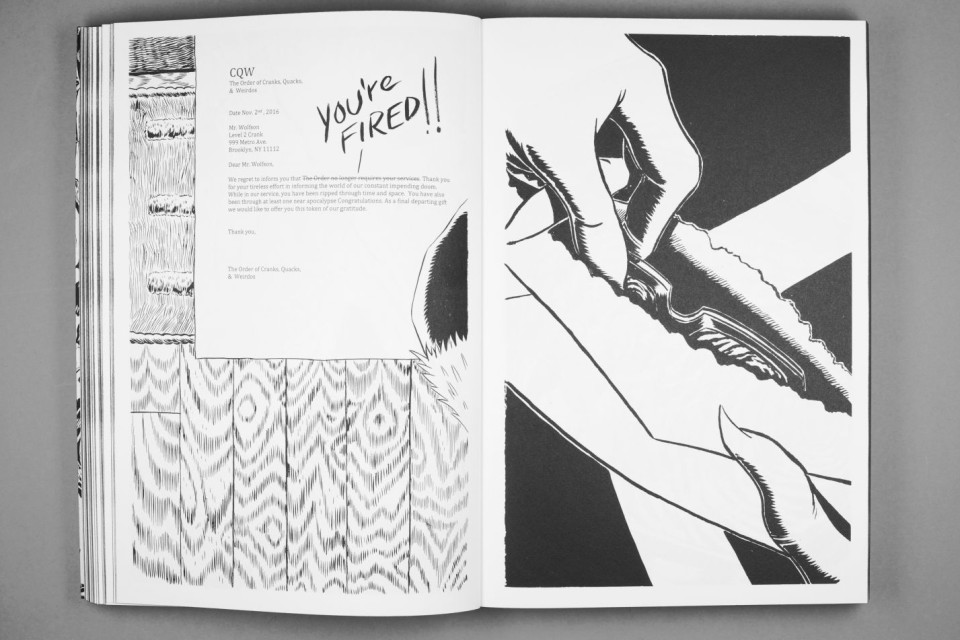 Image: Early Retirement by Mark Thomas Gibson (inside spread)