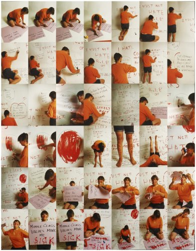 <div class=&#34;artist&#34;><strong>Jo SPENCE</strong></div> 1934 - 1992 <div class=&#34;title&#34;><em>Middle Class Values Make me Sick</em>, 1986/88</div> <div class=&#34;medium&#34;>42 colour photographs mounted on card</div> <div class=&#34;dimensions&#34;>90 x 70 cm overall</div>