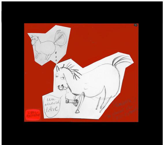 <div class=&#34;artist&#34;><strong>Franciszka THEMERSON</strong></div> 1907-1988 <div class=&#34;title&#34;><em>Un Cheval Libre</em>, 1971</div> <div class=&#34;signed_and_dated&#34;>Signed, titled and dated on front</div> <div class=&#34;medium&#34;>pastel on paper, collage</div> <div class=&#34;dimensions&#34;>With mount: 50 x 65 cm<br /> Inside mount: 34 x 40 cm</div>