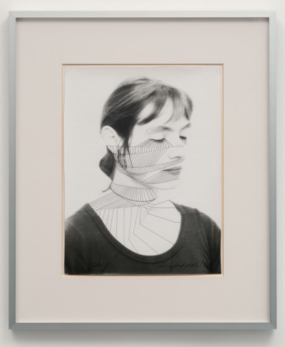 """<div class=&#34;artist&#34;><strong>Annegret SOLTAU</strong></div> 1946 - <div class=&#34;title&#34;><em>Selbst #13 (Self #13)</em>, 1975</div> <div class=&#34;signed_and_dated&#34;>Signed with the artist's monogram """"A.S"""", dated """"75"""" and numbered on reverse</div> <div class=&#34;medium&#34;>Vintage black and white overstitched photograph on Baryte paper</div> <div class=&#34;dimensions&#34;>Framed: 62 x 52 cm<br /> Image size: 39 x 29 cm</div>"""