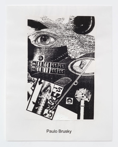 <div class=&#34;artist&#34;><strong>Paulo Bruscky</strong></div> 1949 -  <div class=&#34;title&#34;><em>Eyes</em>, 1998</div> <div class=&#34;medium&#34;>xerox print collaged on paper</div> <div class=&#34;dimensions&#34;>21.5 x 14.5 cm</div>