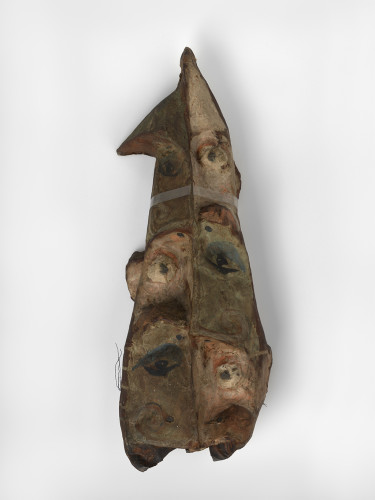 <div class=&#34;artist&#34;><strong>Franciszka THEMERSON</strong></div> 1907-1988 <div class=&#34;title&#34;><em>Another Crowd</em>, 1951</div> <div class=&#34;medium&#34;>oil paint on papier-mâché mask</div> <div class=&#34;dimensions&#34;>82 x 51.5 x 18.5 cm</div>