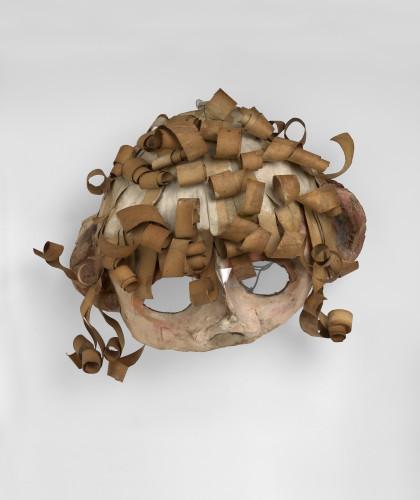 <div class=&#34;artist&#34;><strong>Franciszka THEMERSON</strong></div> 1907-1988 <div class=&#34;title&#34;><em>Bougrelas</em>, 1951</div> <div class=&#34;medium&#34;>oil paint on papier-mâché mask</div> <div class=&#34;dimensions&#34;>40 x 40 x 20 cm</div>