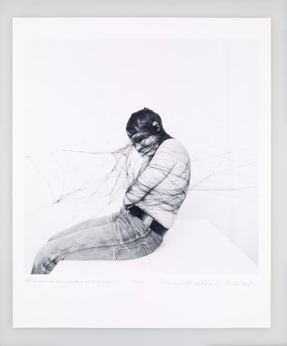 <div class=&#34;artist&#34;><strong>Annegret SOLTAU</strong></div> 1946 - <div class=&#34;title&#34;><em>Permanente Demonstration on 19.01.1976</em>, 1976/2008</div> <div class=&#34;medium&#34;>Set of 6 black and white Iris print photographs</div> <div class=&#34;dimensions&#34;>Each: 60 x 50 cm</div> <div class=&#34;edition_details&#34;>Edition 1 of 5 (plus 2 AP)</div>