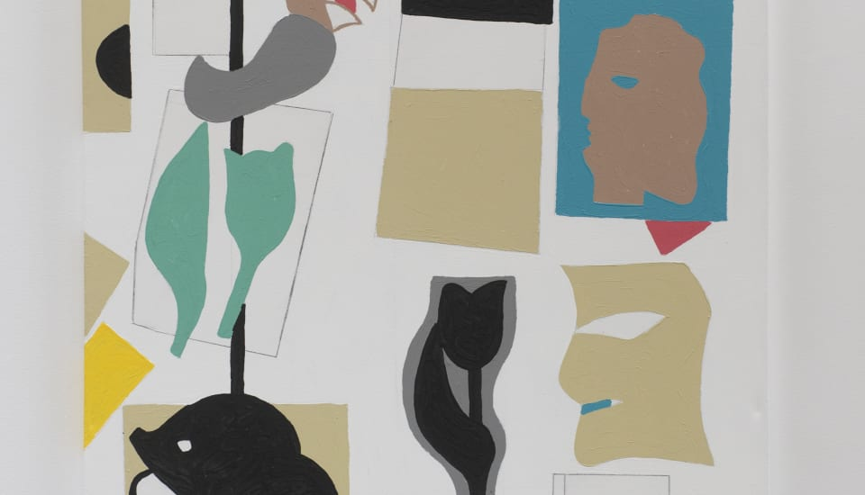 Gordon Crook  A Woman and a Man, 2009  Acrylic on canvas  48 x 35.4 in 122 x 90 cm