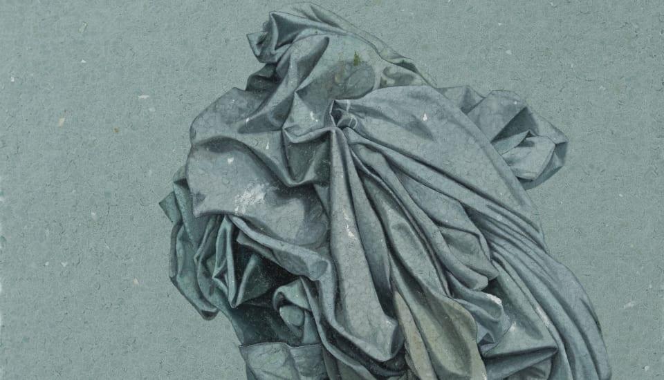 Marita Hewitt  Still Here (blue smoke), 2019  Watercolour on handmade cotton rag paper  900 x 670mm