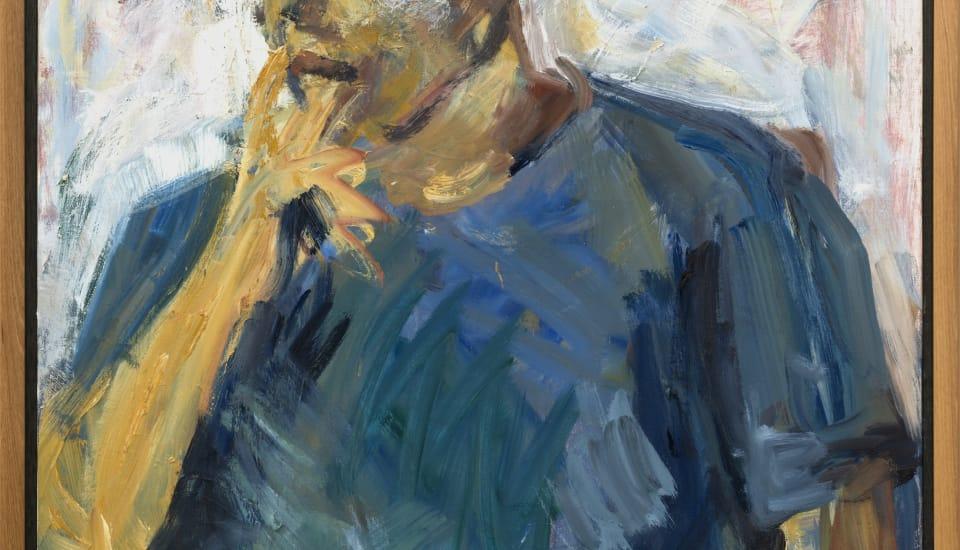 Mountford Tosswill Woollaston  Untitled [Portrait of a Man], n.d.  Oil on board  40.9 x 29.5 x 43.5 in 104 x 75 x 110.5 cm