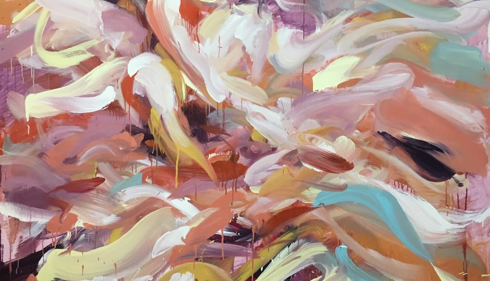 Laura Lancaster  Written on Waves, 2019  Acrylic on canvas  210 x 160 cm  82 5/8 x 63 in