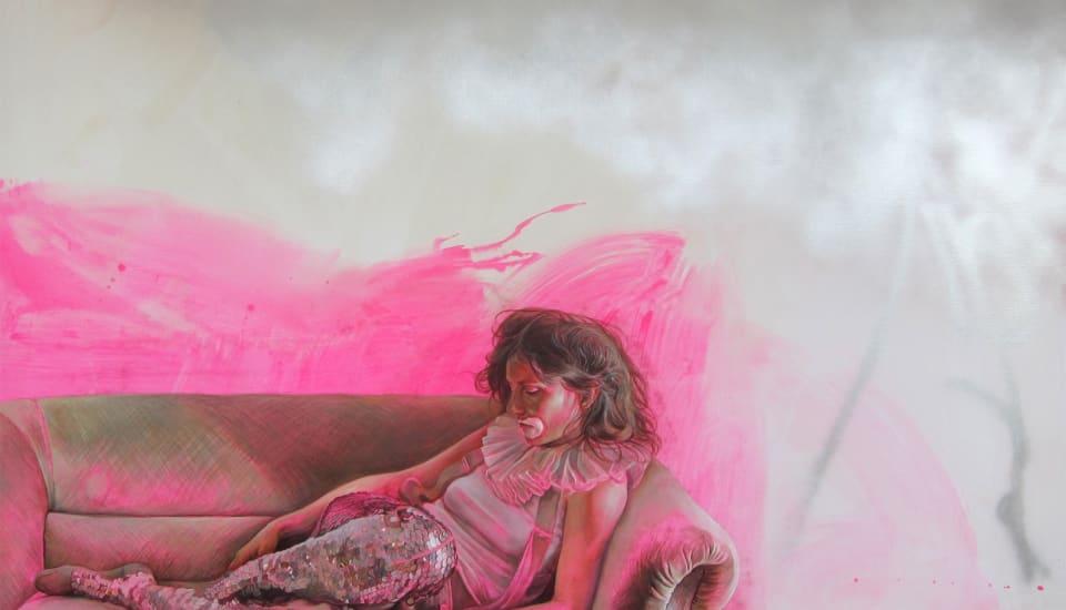 Axel Pahlavi 'Scintillement' 2014, oil on canvas, 140 x 190 cm.