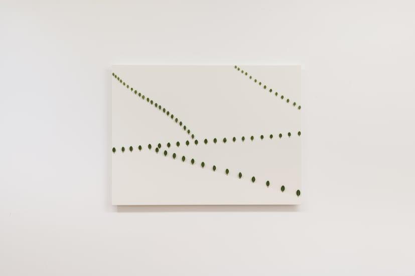 Elizabeth THOMSON Thousand Acre Study I, 2004 Patinated bronze, oil paint, acrylic on panel 700 x 950 x 50mm