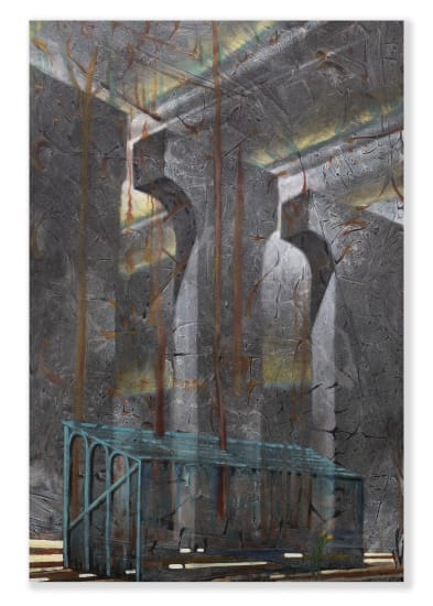 Derek Cowie Haunted Main Stand (Otherwise known as doubt), 2020-21 Oil on canvas 1520mm x 1020mm