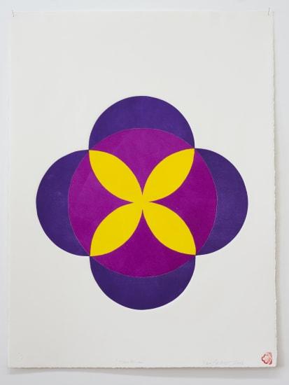 """Max GIMBLETT Moon Flower, 2006 Monoprint on Rives BFK Soft White handmade paper, France 765mm x 580mm 30"""" x 22"""""""