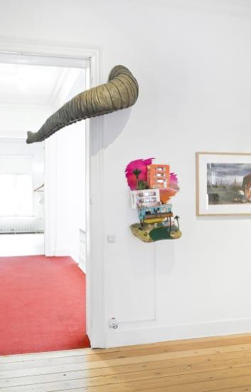 """Full House: 100 Artists"" Installation view at Aeroplastics, 2014"