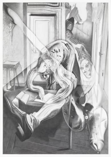 Dennis Scholl, 'Der Dichter und sein sündiger Thomas (The poet and his sinful Thomas)'. 2011. Pencil on paper, 59.4 x 42 cm.