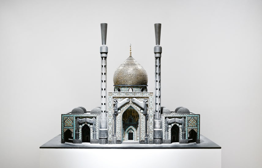 Al Farrow, 'Bombed Mosque', 2010 Guns, gun parts, bullets, steel, 103.51 cm x 142.37 x 88.34 cm