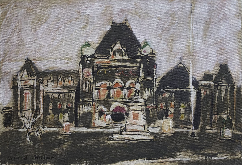David Milne, Parliament Buildings at Queen's Park, 1940.