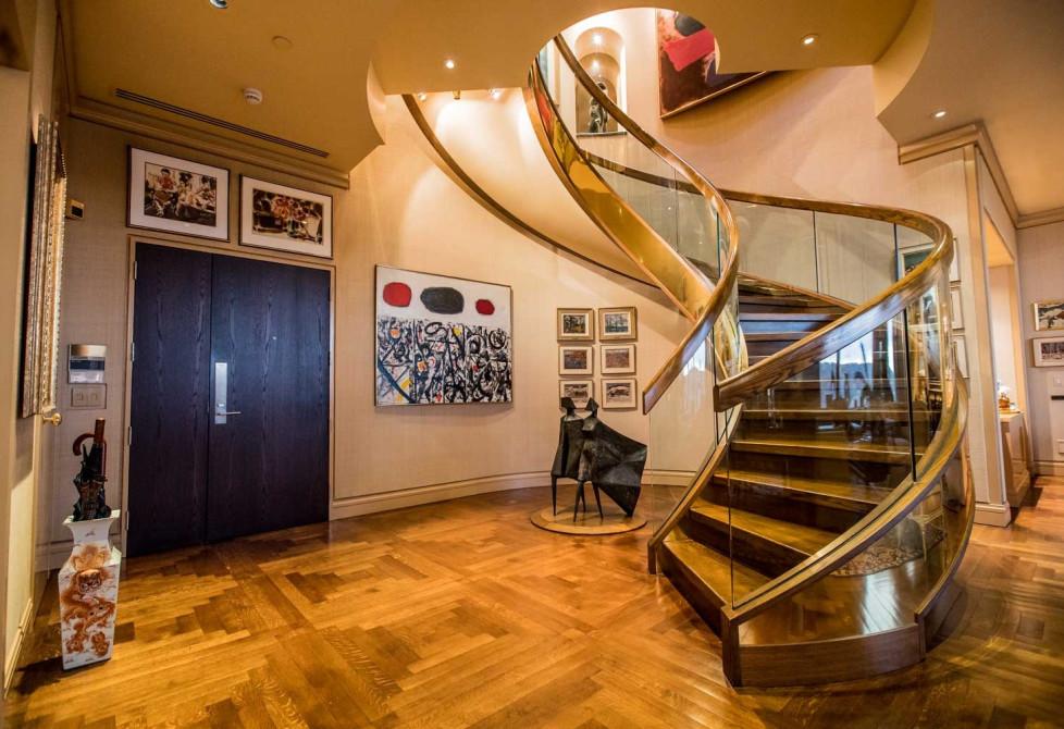 Interior image of Mitzi and Mel Dobrin's apartment