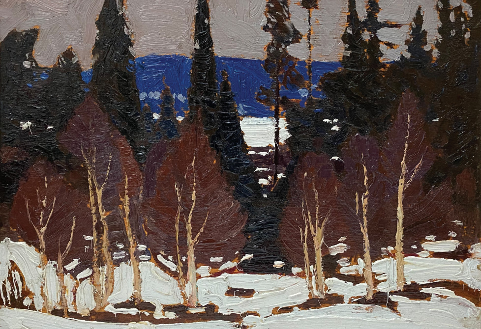 A Tom Thomson painting in The Collection of MItzi and Mel Dobrin